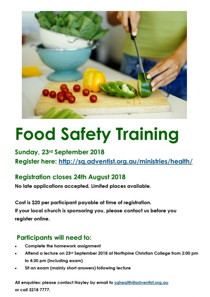 Food Safety Training Flyer 1